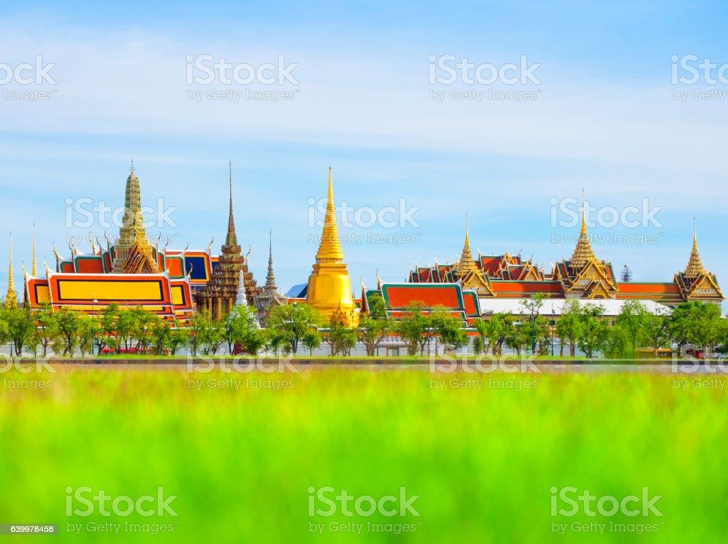 Wat Phra Kaew ,Temple of the Emerald Buddha stock photo