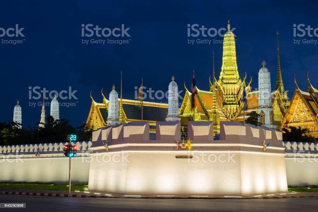 Wat Phra Kaew Temple stock photo