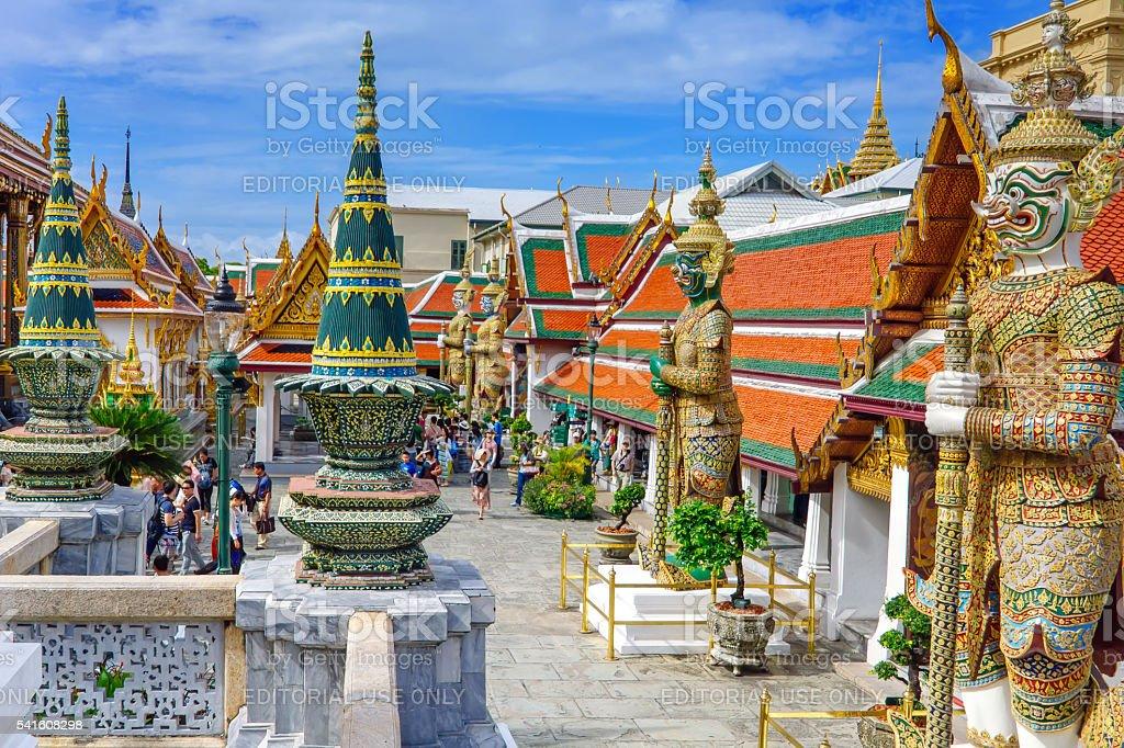 Wat Phra Kaew, o O Grand Palace foto royalty-free