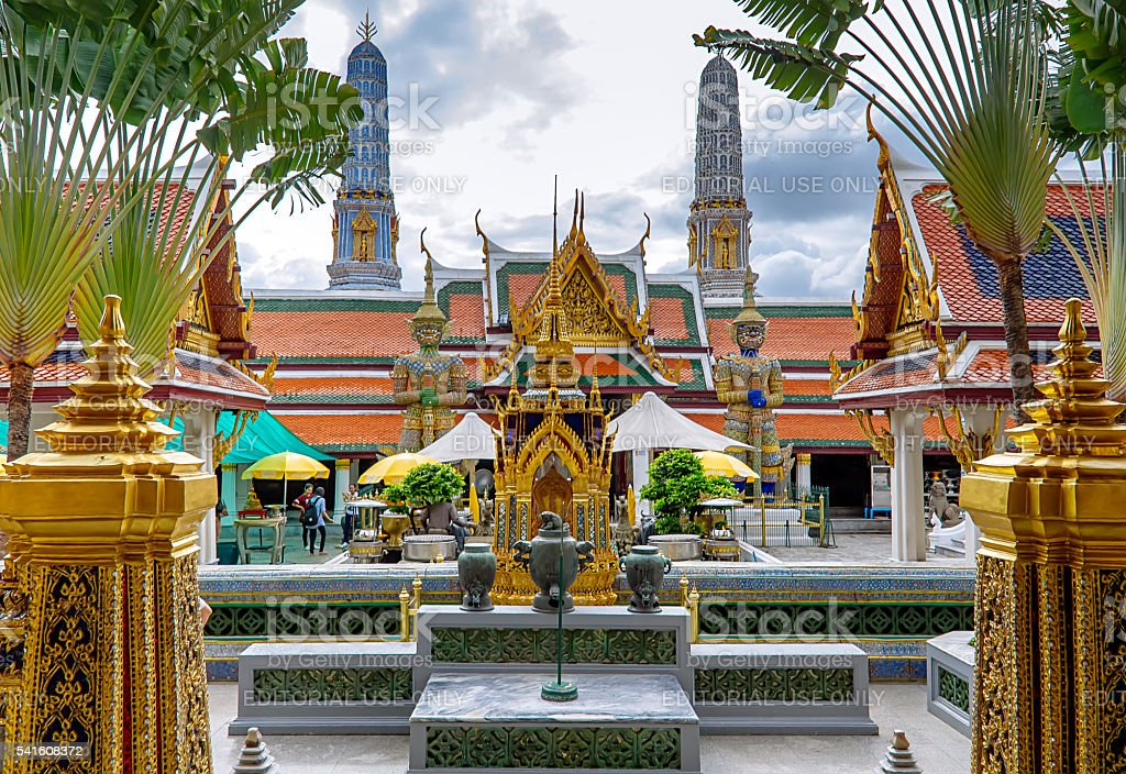Wat Phra Kaew, o O Grand Palace foto royalty-free