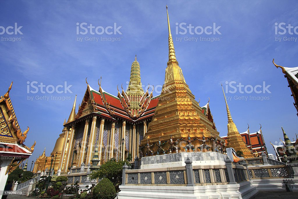 Wat Phra keow in Bangkok royalty-free stock photo