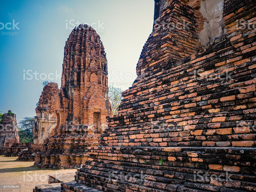 Wat Phra Mahathat Ayutthaya Thailand stock photo