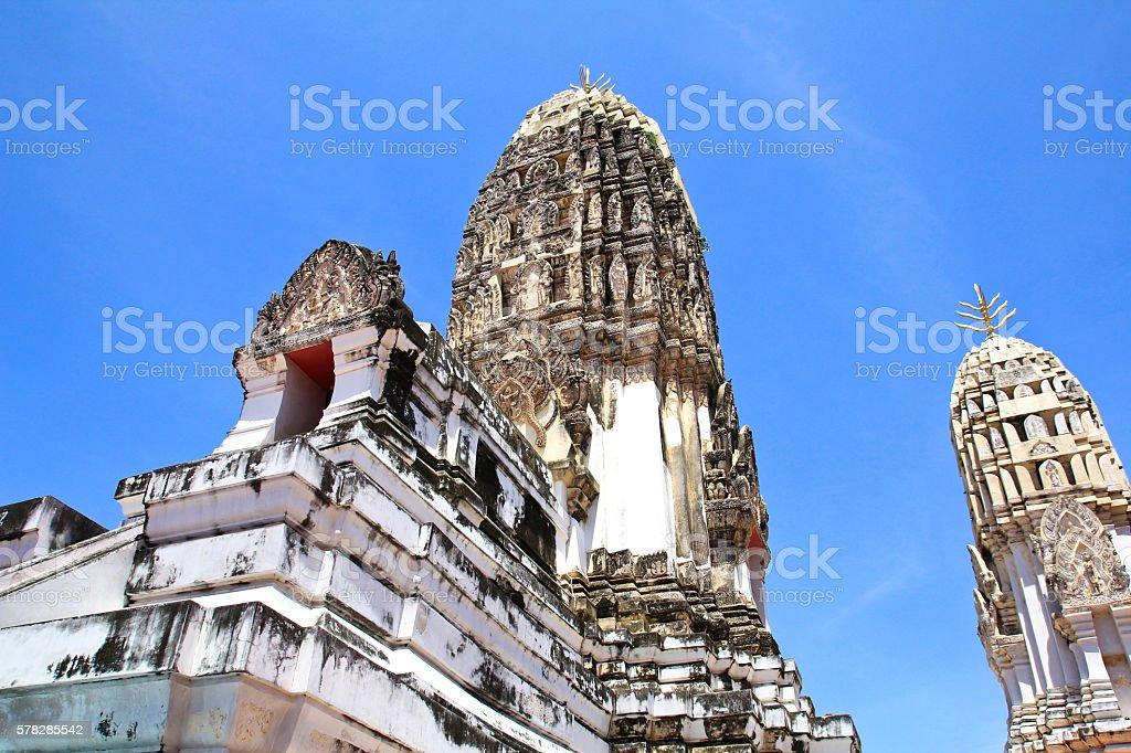 Wat Phra Mahathat, Buddhist Temple stock photo