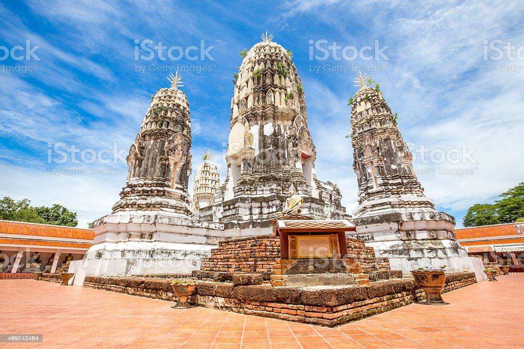 Wat Phra Mahathat, Buddhist Temple, Ratchaburi province, Thailand stock photo