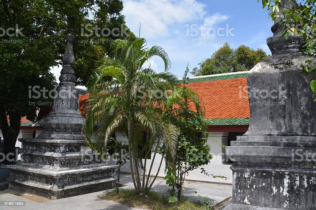 Wat Phra Mahathat in Nakhon Si Thammarat, Thailand stock photo