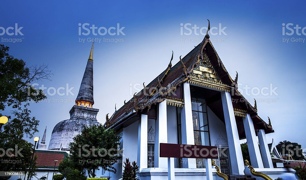 Wat Phra Mahathat (Temple), Nakhon Si Thammarat, Thailand. royalty-free stock photo