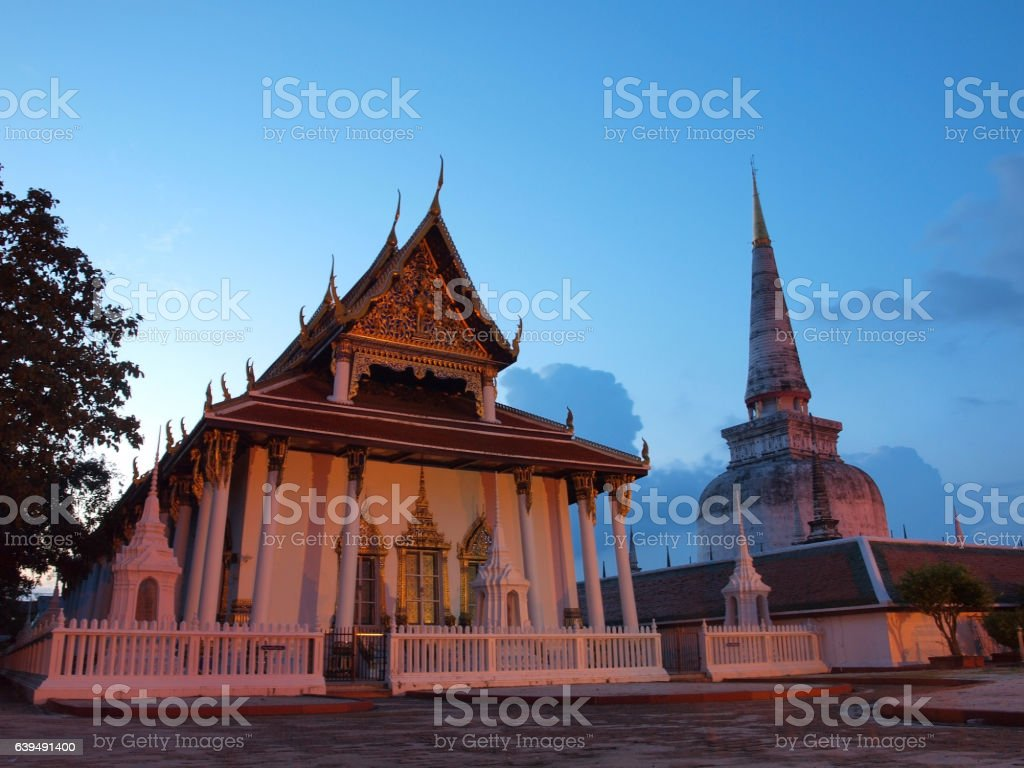 Wat Phra Mahathat stock photo
