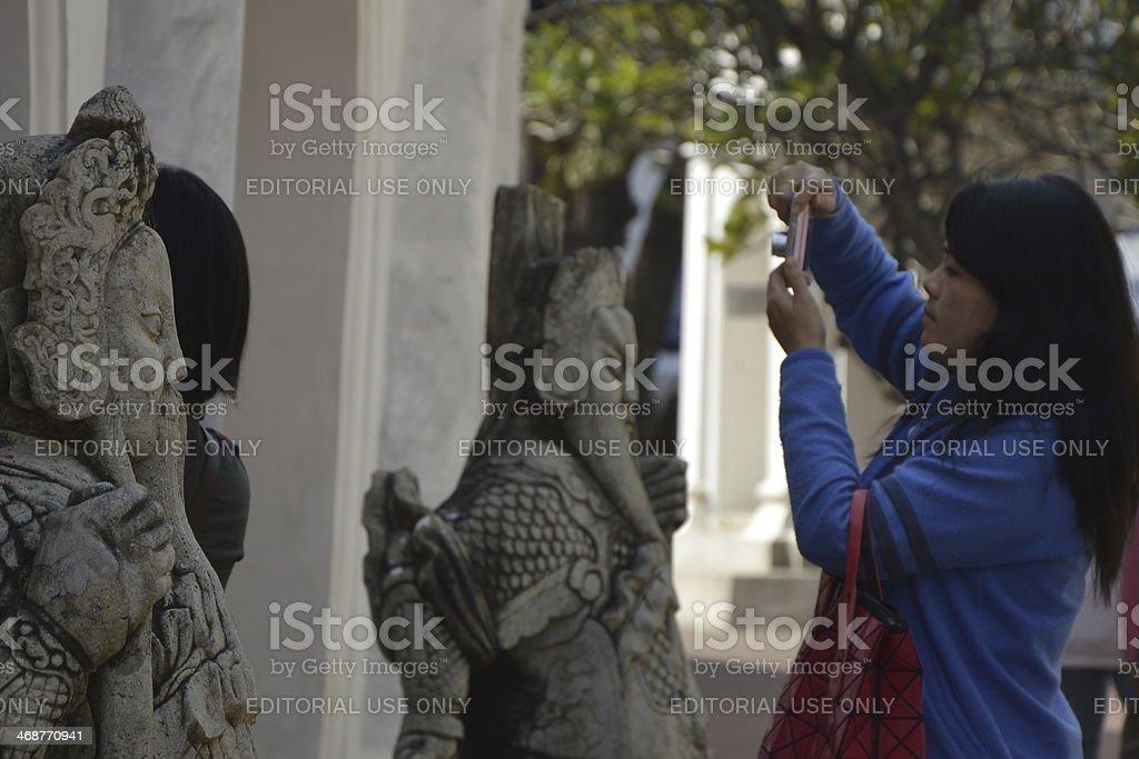 Wat Phra Pathom Chedi stock photo