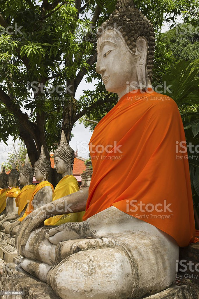 Wat Phra Si Sanphet in Ayutthaya near Bangkok, Thailand royalty-free stock photo
