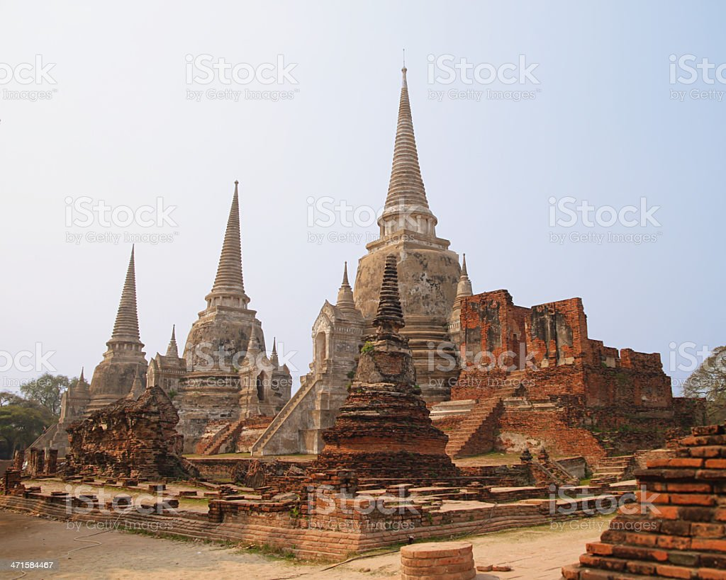 Wat Phra Si Sanphet royalty-free stock photo