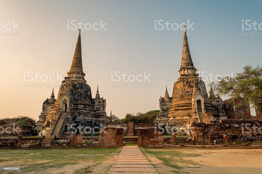 Wat Phra Si Sanphet. stock photo