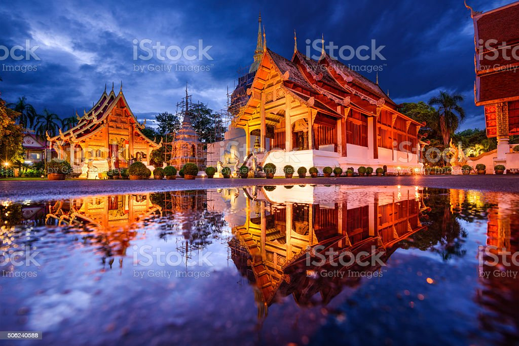 Wat Phra Singh in Chiang Mai stock photo