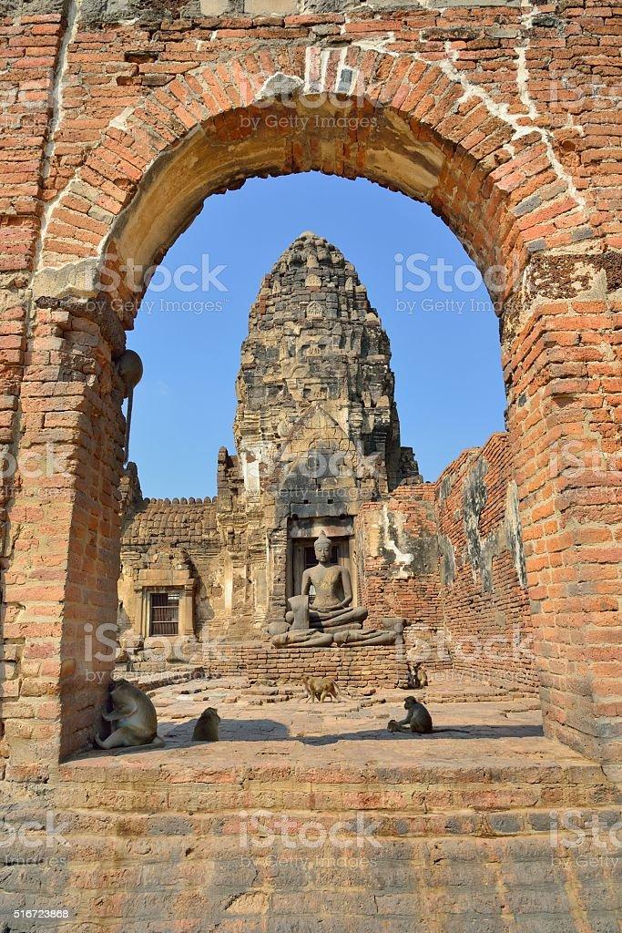 Wat Phra Sri Rattana Mahathat in Lopburi, Thailand stock photo