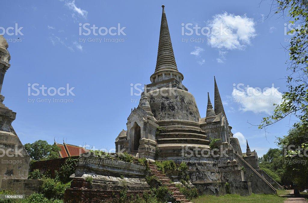 Wat Phra Sri Sanphet at Ayutthaya Historical Park Thailand royalty-free stock photo