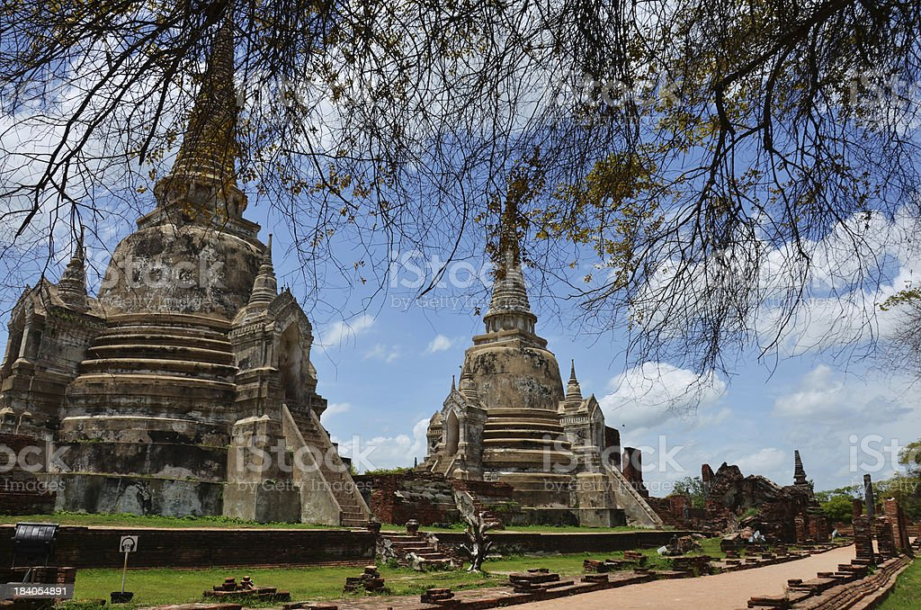 Wat Phra Sri Sanphet at Ayutthaya Historical Park Thailand royalty-free stock photo