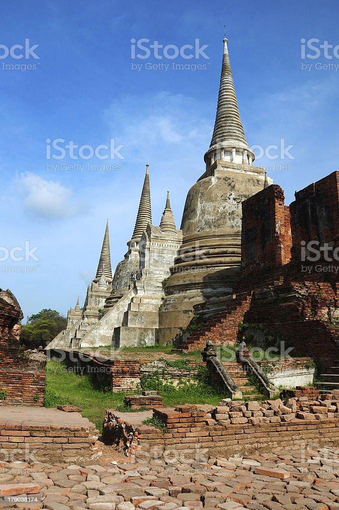 Wat Phra Sri Sanphet in Ayutthaya, Thailand stock photo