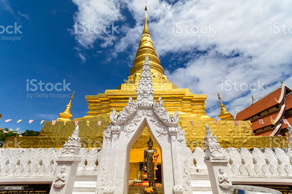 Wat Phra That Chae Haeng in Nan, Thailand stock photo