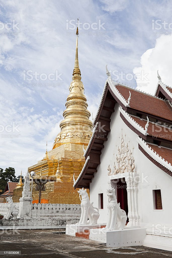 Wat Phra That Chae Haeng, Nan. stock photo