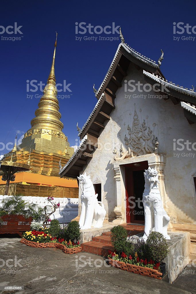 Wat Phra That Chae Haeng  Nan Thailand royalty-free stock photo