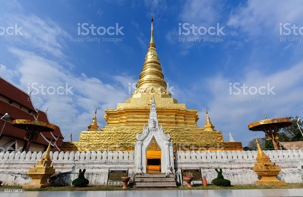 Wat Phra That Chae Haeng stock photo