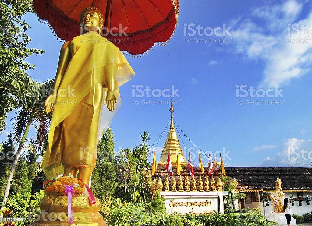 Wat Phra That Doi Kham  /chiangmai / thailand stock photo