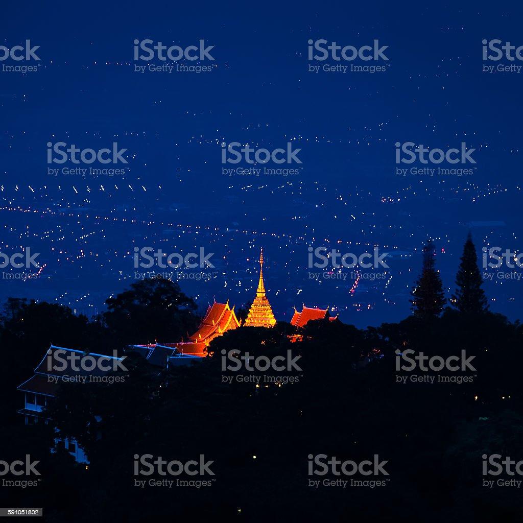 Wat Phra That Doi Suthep Chiang Mai stock photo