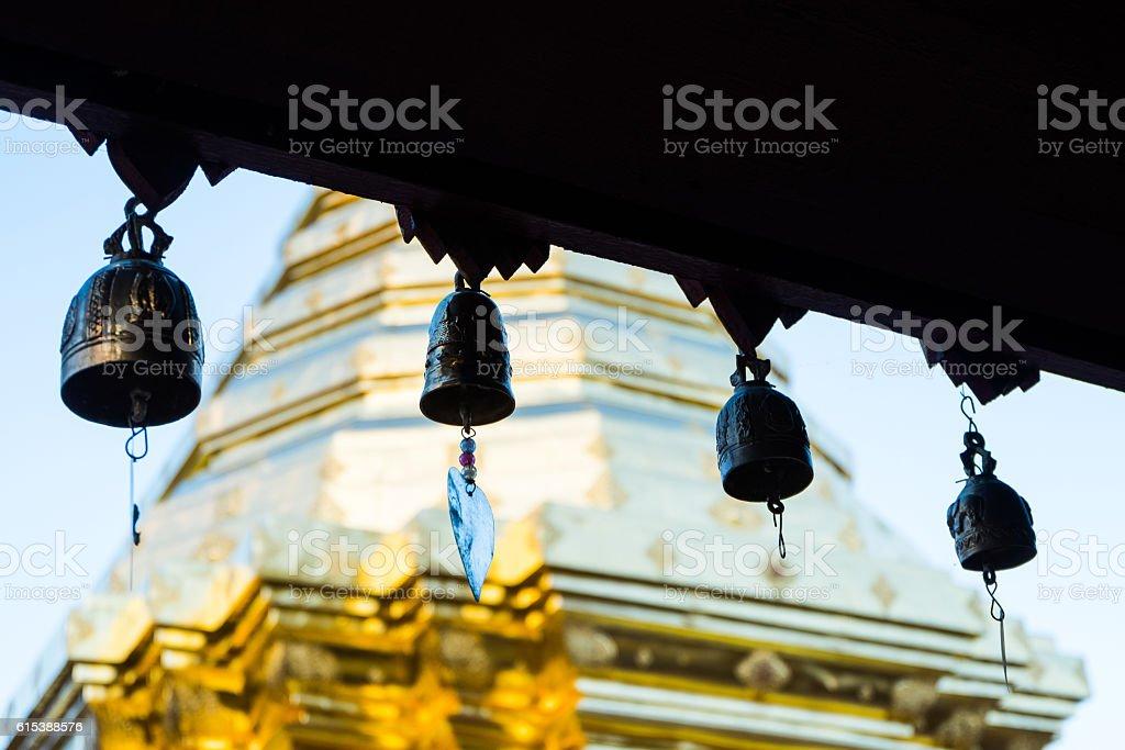 Wat Phra That Doi Suthep is tourist attraction of stock photo