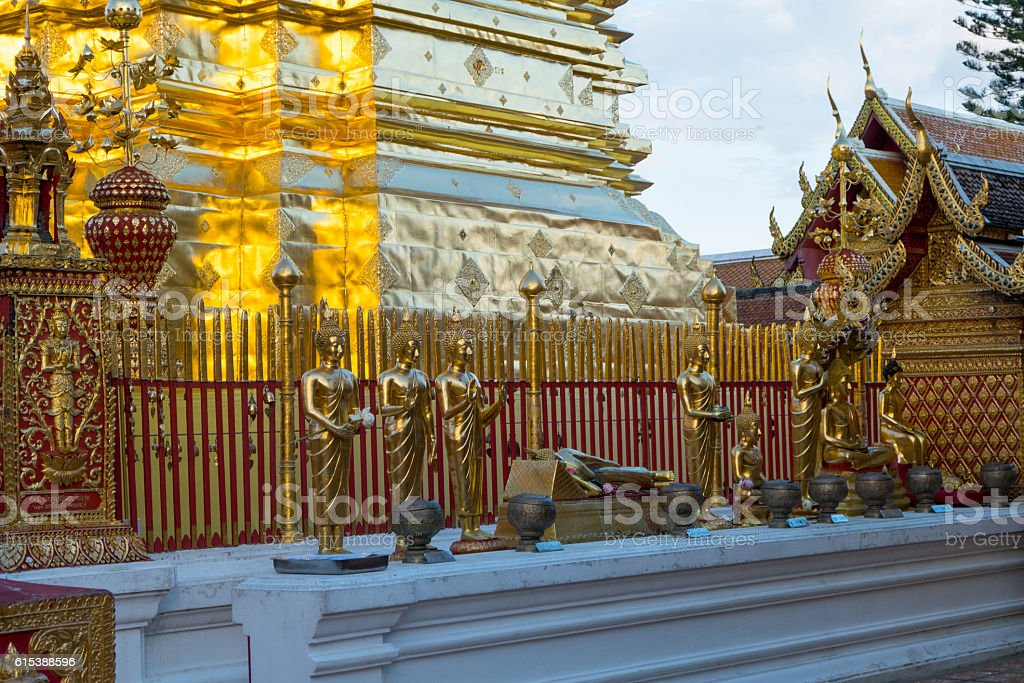 Wat Phra That Doi Suthep is tourist attraction of stock photo