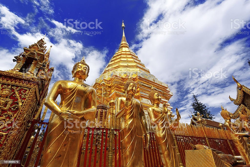 Wat Phra That Doi Suthep Temple stock photo
