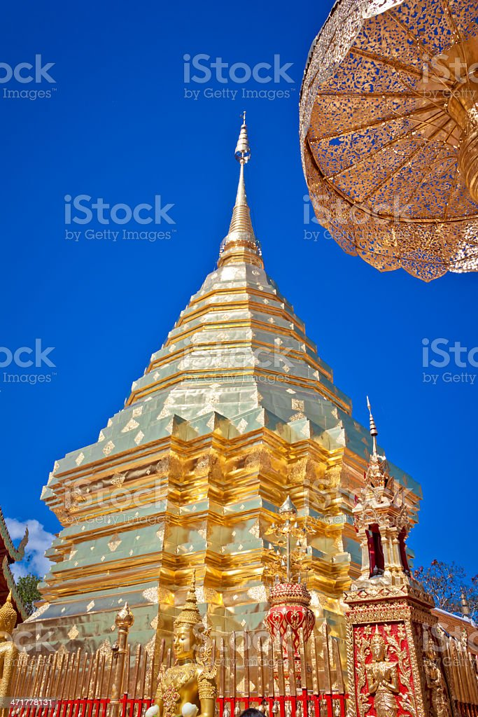 Wat phra That Doi Suthep,Temple Chiang Mai Thailand royalty-free stock photo