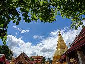 Wat Phra That Haripunchai temple in Lamphun, Thailand.