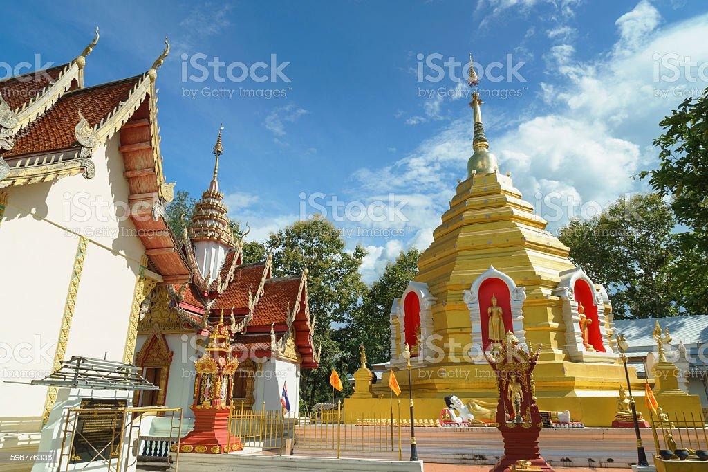 Wat Phra That Sob Fang stock photo