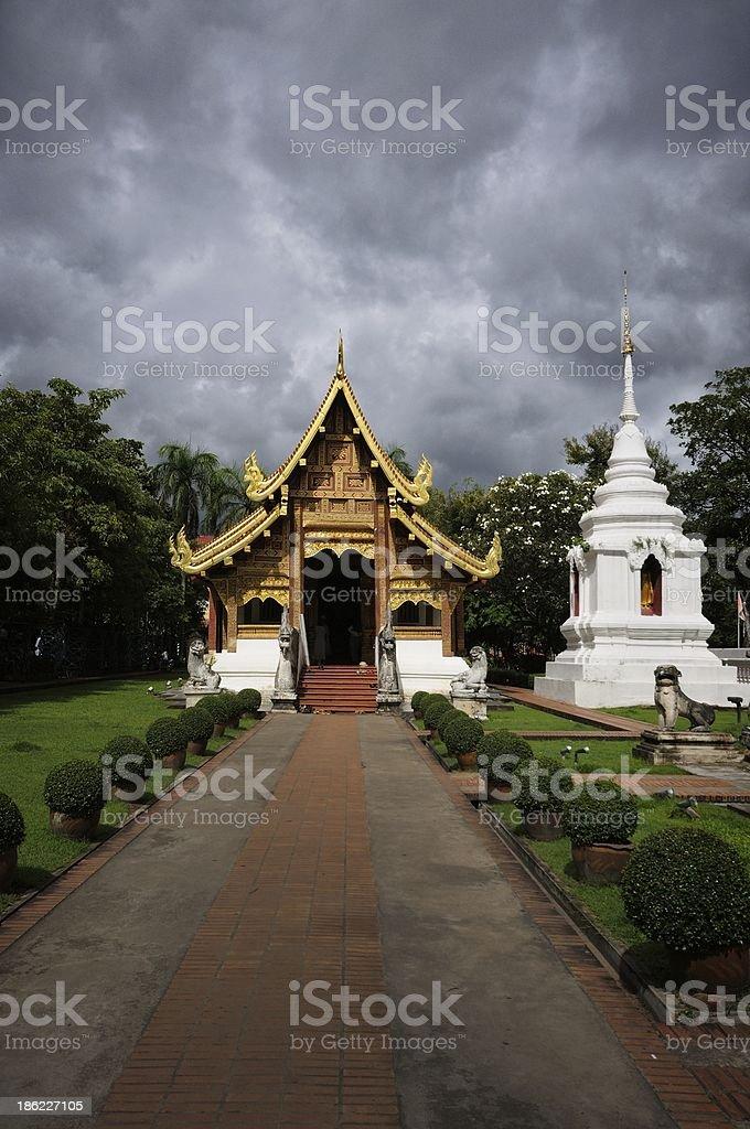 Wat Phrasing Chiangmai Thailand royalty-free stock photo