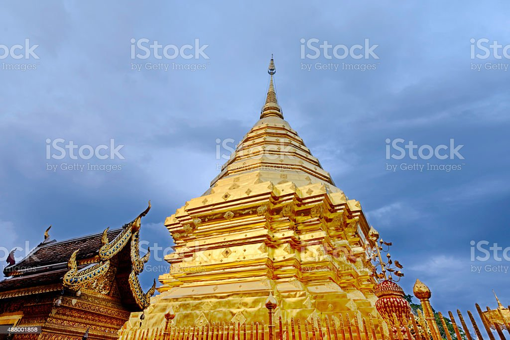 Wat Phrathat Doi Suthep at ChiangMai Thailand royalty-free stock photo