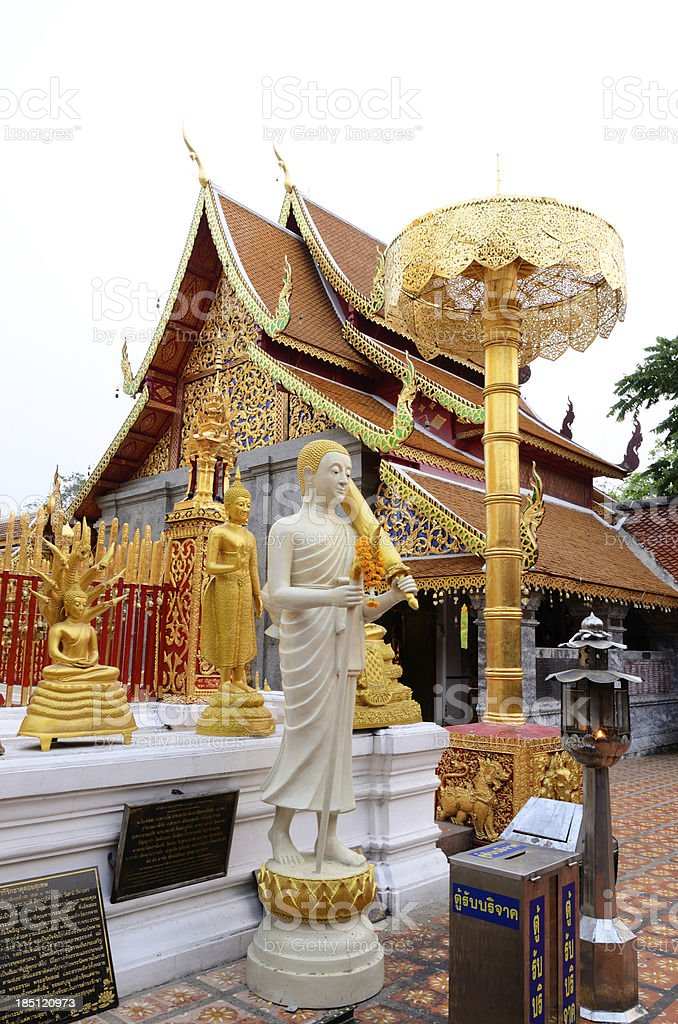 Wat Phrathat Doi Suthep in Thailand royalty-free stock photo