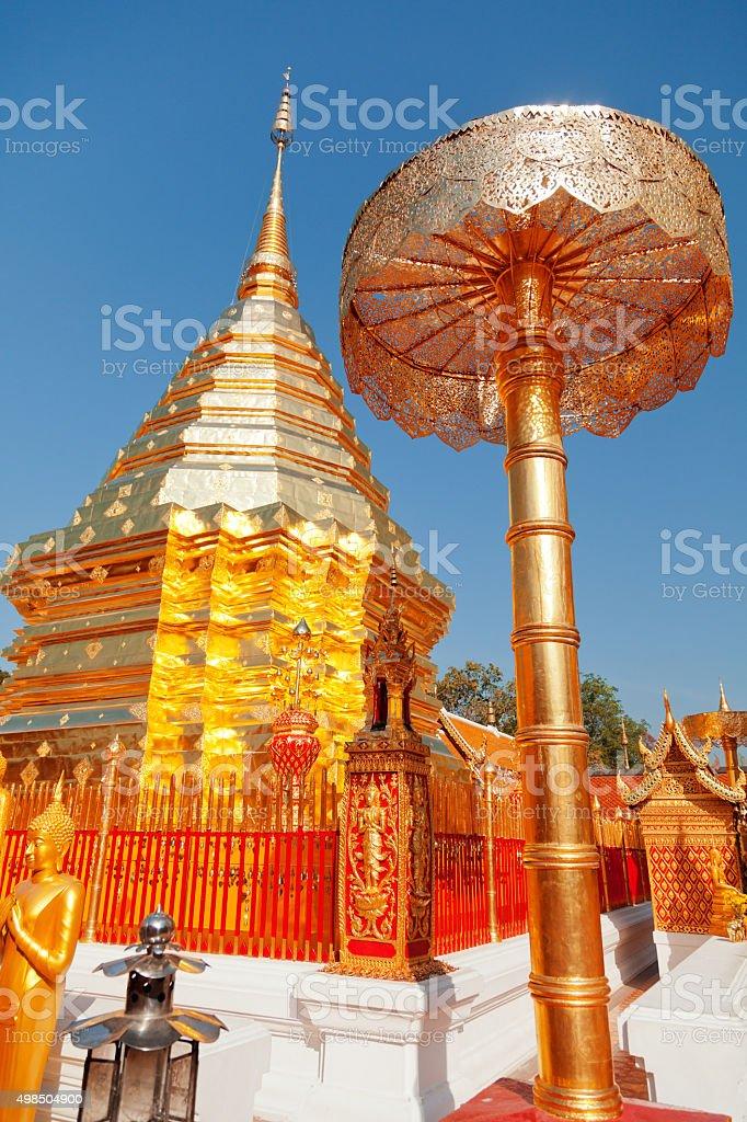Wat Phrathat Doi Suthep stock photo