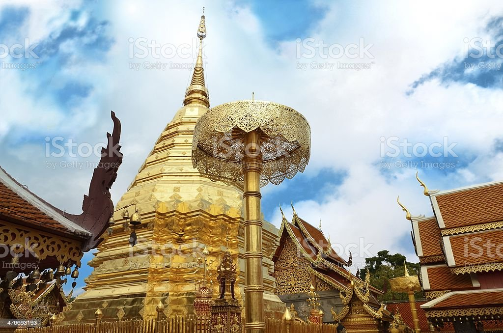 Wat Phrathat Doi Suthep Temple In Chiang Mai royalty-free stock photo