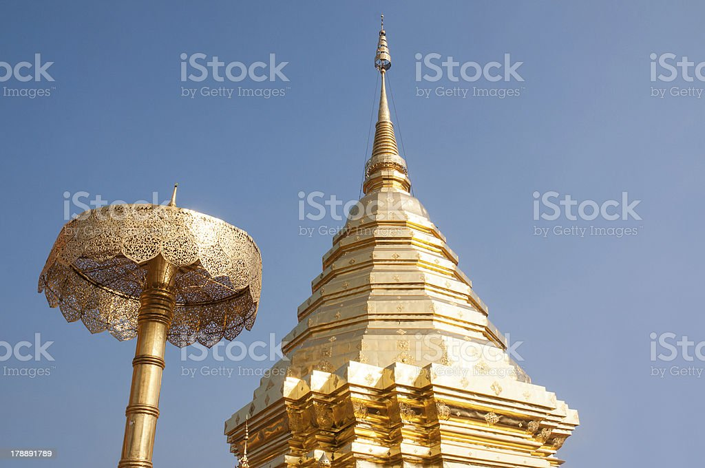 Wat Phrathat Doi Suthep temple royalty-free stock photo