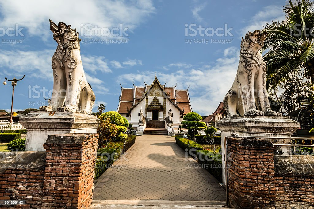 Wat Phu Mintr in Nan province,Thailand stock photo