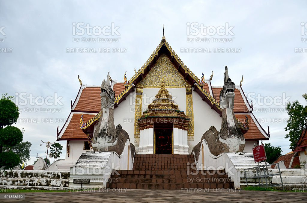 Wat Phu Mintr or Phumin Temple in Nan, Thailand stock photo