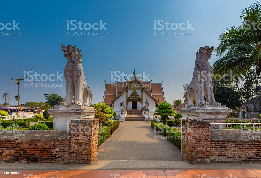 Wat Phumin is a unique thai traditional Temple stock photo