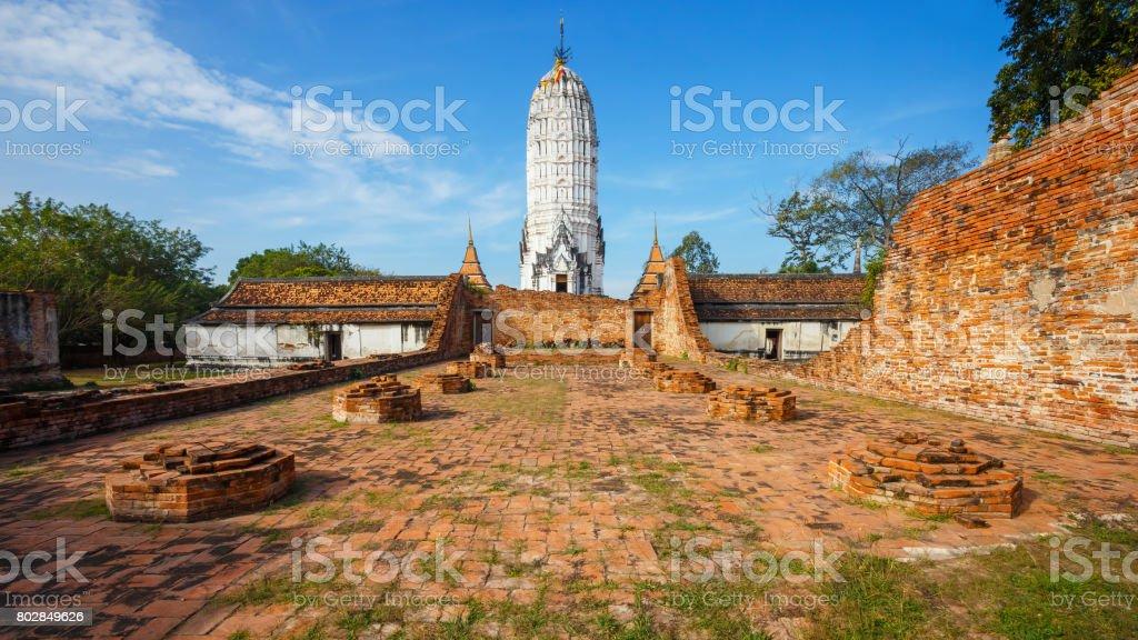 Wat Phutthaisawan Temple in Ayutthaya Historical Park, UNESCO World Heritage Site in Thailand stock photo