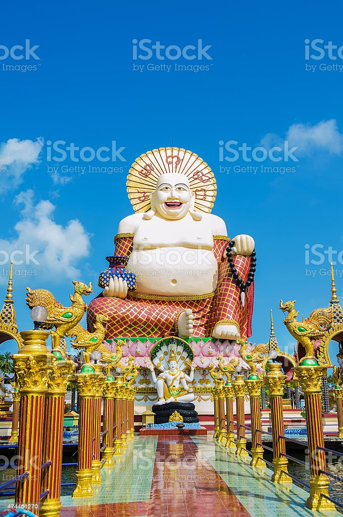 Wat Plai Laem stock photo