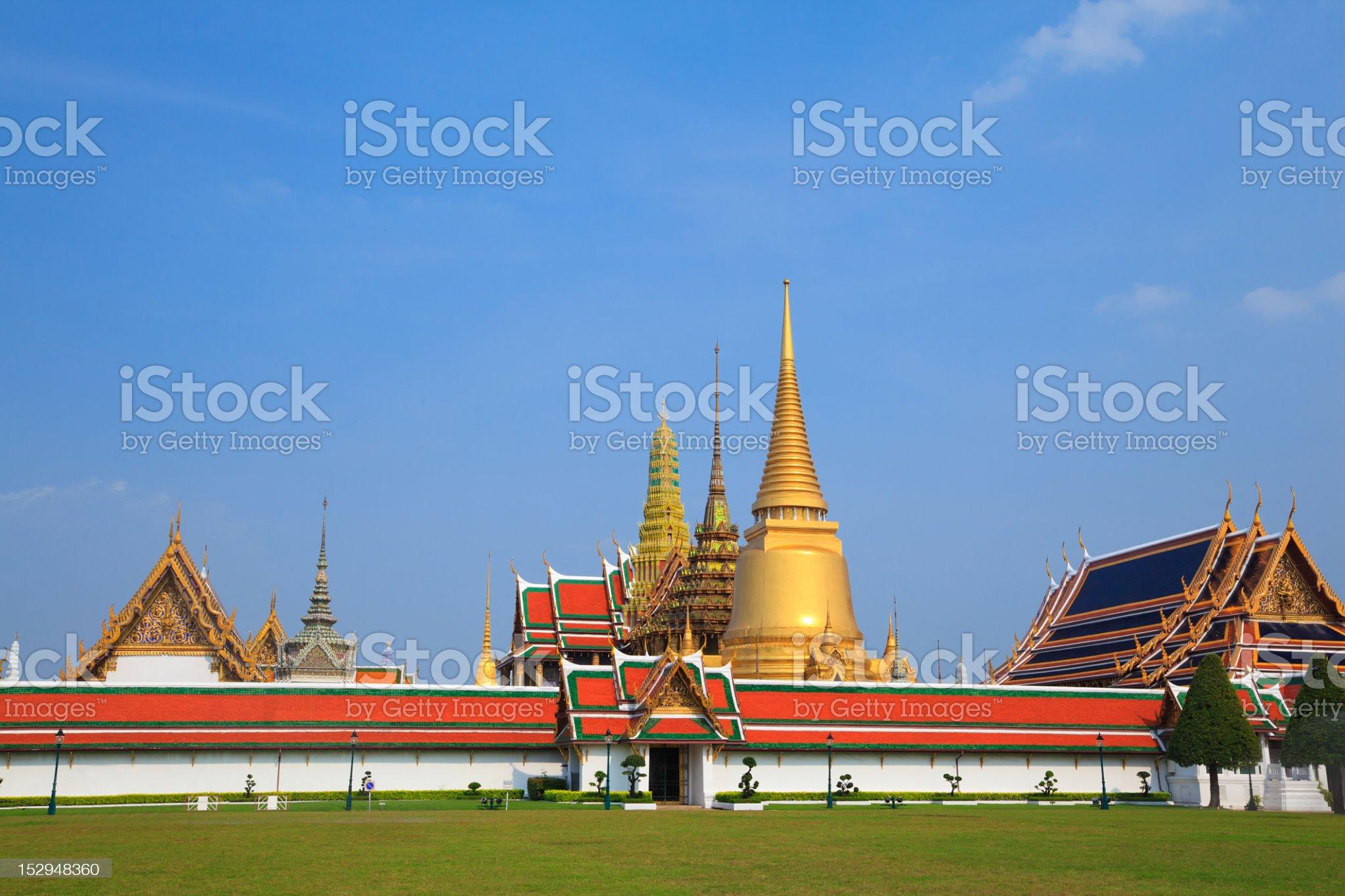 Wat pra kaeo, Grand palace, Bangkok, Thailand royalty-free stock photo