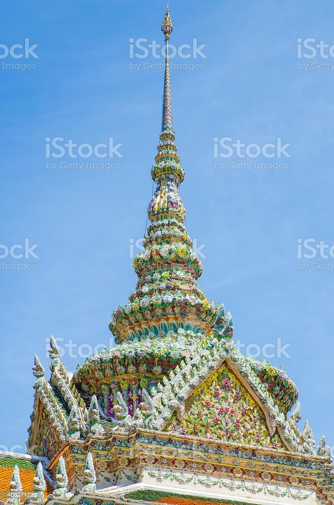 Wat Pra Kaew Grand palace Bangkok royalty-free stock photo