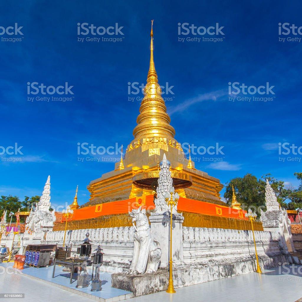Wat Pra That Chae Haeng, Nan province stock photo