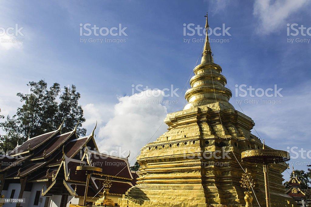 Wat Pra That Chomthong vora vihan royalty-free stock photo