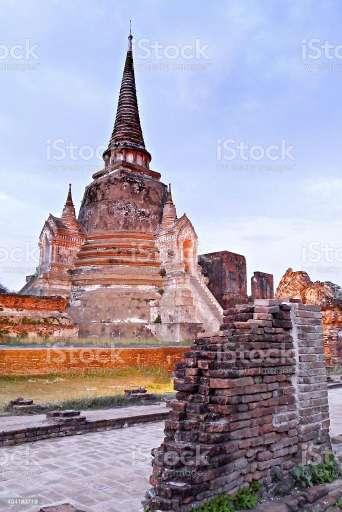 Wat Prasisanpeth temple thailand. stock photo