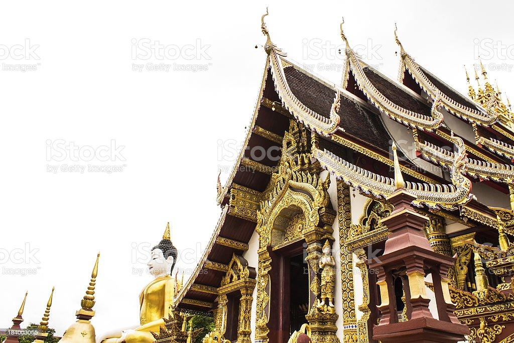 Wat Raja Mon Thian , Chiangmai Thailand royalty-free stock photo