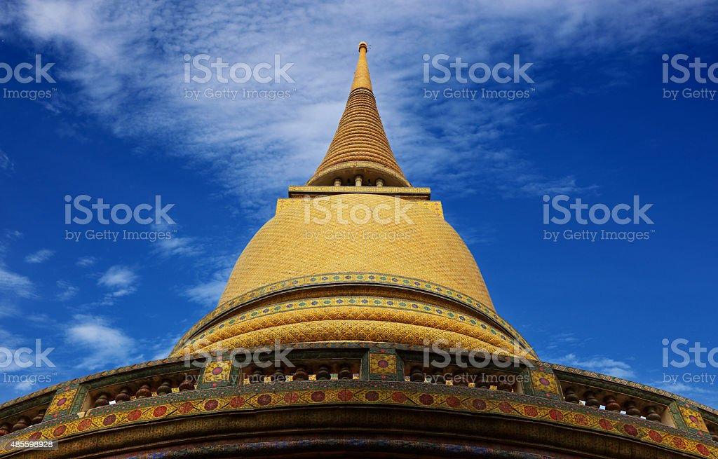 Wat Rajabopit temple in bangkok Thailand stock photo